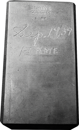 Our first carbon plate molded on April 27, 1939.
